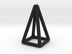 Pyramid Wireframe in Black Natural Versatile Plastic