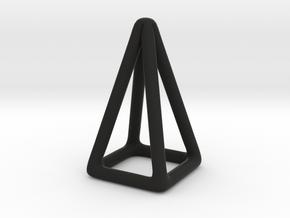 Pyramid Wireframe in Black Natural Versatile Plastic