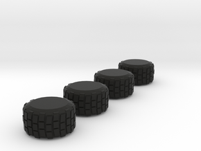 Military Grade Tires   7mm High in Black Strong & Flexible