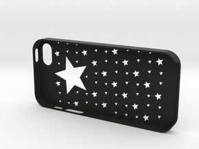 Iphone5,5S Star case,cover in Black Natural Versatile Plastic