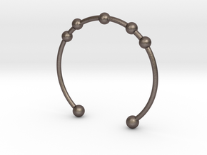 Bracelet Seven in Polished Bronzed Silver Steel