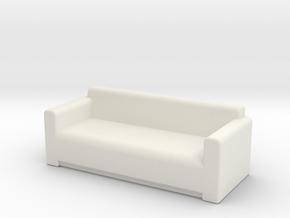 Comfy Sofa OO Scale in White Natural Versatile Plastic