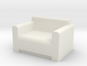 Comfy Chair OO Scale in White Natural Versatile Plastic