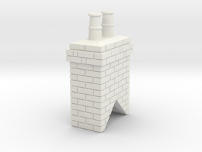 Chimney Stack 1 OO Scale in White Strong & Flexible