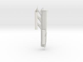 Port Mandible 4 in White Natural Versatile Plastic
