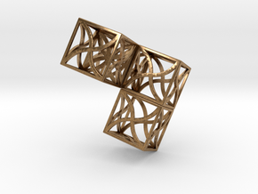 Twirl cubed puzzle part #2 in Natural Brass