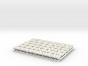 15mm Pallets x72 in White Natural Versatile Plastic
