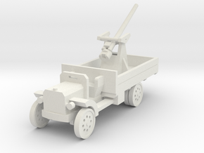 1/144th 3 inch A.A. Mk .1 on Peerless Lorry in White Natural Versatile Plastic