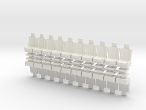 15mm Standard Seats x20 in White Strong & Flexible