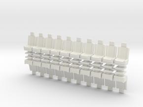 15mm Standard Seats x20 in White Natural Versatile Plastic