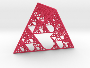 Sierpinski tetrahedron of Love in Pink Strong & Flexible Polished