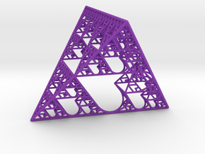 Sierpinski tetrahedron of Love in Purple Strong & Flexible Polished