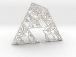 Sierpinski tetrahedron of Love in White Natural Versatile Plastic