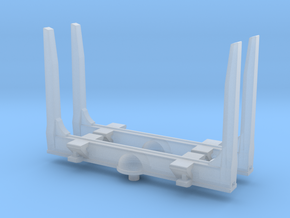 1/87th HO scale log bunk set of 2 with angled top in Smooth Fine Detail Plastic