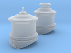Cooke Domes HOn3 (South Park mogul) in Smooth Fine Detail Plastic