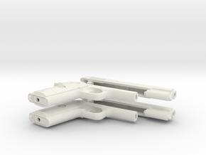 1/4 scale M1911A1 in White Natural Versatile Plastic