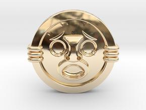 Mirror Shield II in 14K Yellow Gold