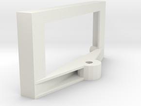 Arduino Ultrasonic Sensor Servo Mount in White Natural Versatile Plastic