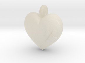 Wounded Heart Pendant in White Acrylic