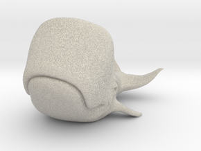 Happy Whale small 60mm long in Natural Sandstone