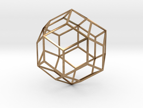 Rhombic Triacontahedron in Natural Brass