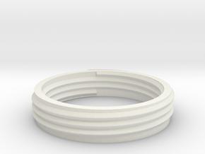adapter for helix lamp E27 bulb socket 10mm hight in White Natural Versatile Plastic