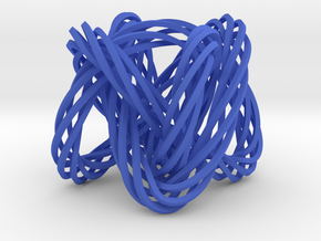 Knot, Knot.  Who's There?  Lissajous knot. in Blue Strong & Flexible Polished