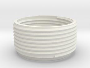 adapter for helix lamp E27 bulb socket 20mm hight in White Natural Versatile Plastic