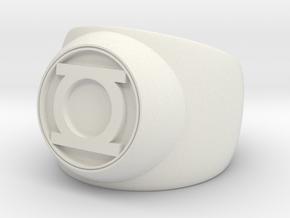 Green Lantern Ring- Size 4.5 in White Natural Versatile Plastic