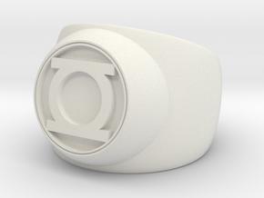Green Lantern Ring- Size 8.5 in White Strong & Flexible