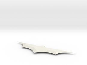 6 In Batarang in White Natural Versatile Plastic