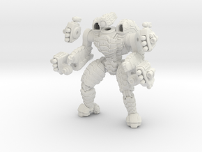 Mech suit with twin missile pods. (10) in White Natural Versatile Plastic