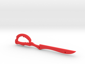 Scissor Blade Small in Red Processed Versatile Plastic