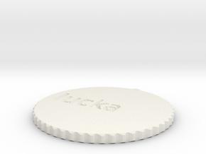 by kelecrea, engraved: lucka  in White Natural Versatile Plastic