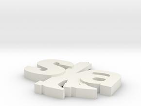ska pendant design 1 in White Natural Versatile Plastic