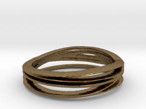 Anello bronzo misura7 in Natural Bronze