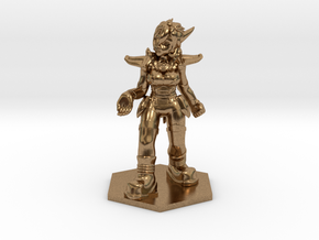 Helja, Dwarven Dracomancer 1:72 Scale in Natural Brass