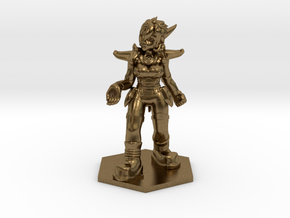 Helja, Dwarven Dracomancer 1:72 Scale in Natural Bronze