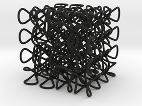 Celtic Knot 3D, seed 12 in Black Strong & Flexible