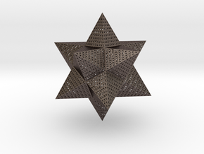 Dodecahedron Thing in Polished Bronzed Silver Steel