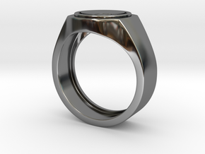 Home button Ring in Premium Silver