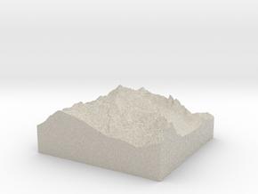 Model of Mount Shuksan in Natural Sandstone