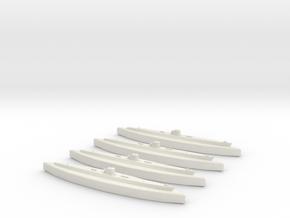 U-37 (Type IXA U-Boat) 1:1800 x4 in White Natural Versatile Plastic