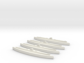 U-37 (Type IXA U-Boat) 1:1800 x4 in White Natural Versatile Plastic