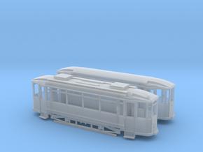 Tram Waggonfabrik Lindner Spur H0m (1:87) in Smooth Fine Detail Plastic