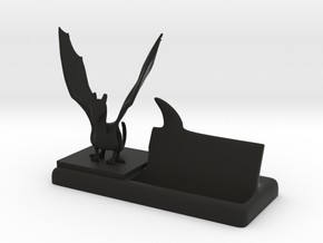 mr dragon says plastic business card holder in Black Natural Versatile Plastic