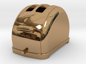 1/6 scale Toaster, 1940's  in Polished Brass