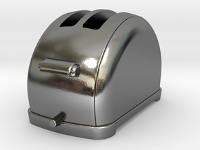 1/6 scale Toaster, 1940's  in Polished Silver