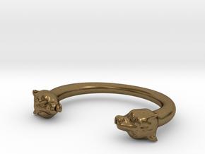 bracelet black panther in Natural Bronze
