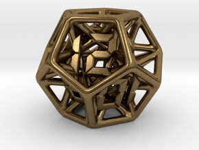 Dice - D12 in Natural Bronze